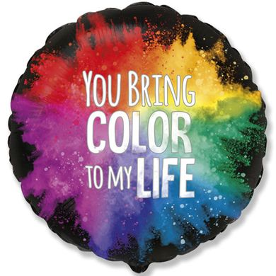 "FM 18"" ""you bring color to my life"" акварель"